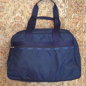 LeSportSac Travel Tote LOCK & KEY zipper CRUSHABLE